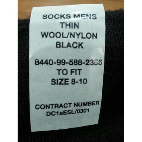Носки армии Великобритании, чёрные, новые