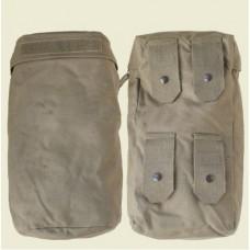 Карман большой (L) навесной к рюкзаку и разгрузке Redo армии Австрии, олива, б/у