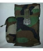 Подсумок для двухбарабанного магазина (Beta C-Mag ) c креплением MOLLE  армии США, woodland, б/у