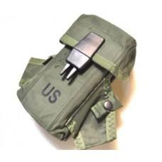 Подсумок под 3 магазина М16 и две гранаты М67 армии США, олива, новый