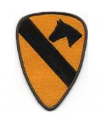 Нашивка 1-й кавалерийской дивизии армии США, жёлто-черная, новая