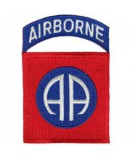 Нашивка 82 воздушно- десантной дивизии армии США, новая