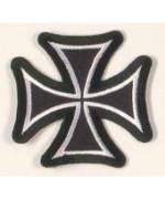 """Нашивка """"Eisernes Kreuz"""", чёрная, новая"""