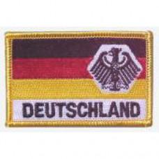 """Нашивка """"Flagge - BR Deutschland mit Adler"""", новая"""