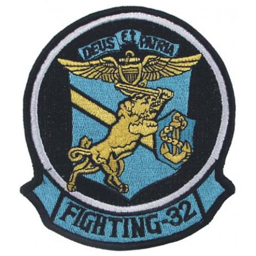 Нашивка FIGHTING-32 SWORDSMAN, голубая, новая