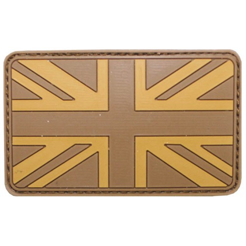 Шеврон на липучке флаг Великобритании, desert, новый