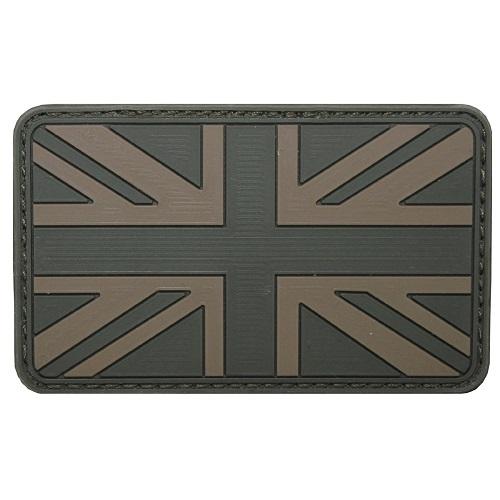 Шеврон на липучке флаг Великобритании, олива, новый