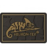 Шеврон на липучке Helikon-Tex Logo Patch PVC, койот, новый