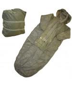 Спальный мешок Бундесвера с рукавами и влагозащитным покрытием, олива, б/у