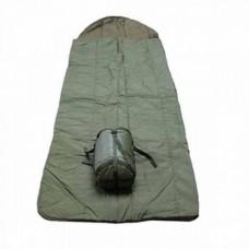 Спальный мешок летний с компрессионным мешком армии Великобритании, олива, б/у