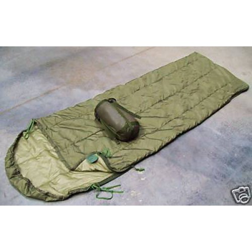 Спальный мешок летний с компрессионным мешком армии Великобритании, олива, как новый