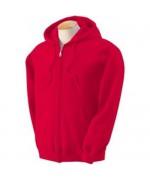 Толстовка с капюшоном Gildan Heavy Zip-Kapuze, красная, новая