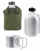 Фляга алюминиевая со стаканом в термочехле M47, олива, новая
