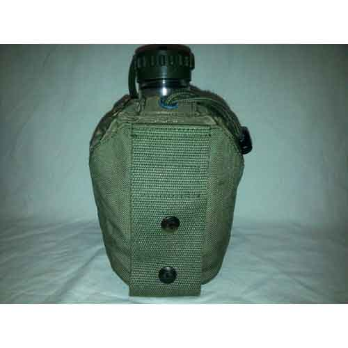 Фляга армии Австрии в чехле с креплением на рюкзак, олива, б/у