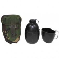 Фляга М58 армии Великобритании с чехлом DPM, чёрная, б\у