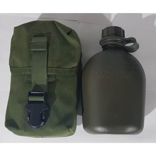 Фляга в чехле армии США, олива, б/у хорошее состояние