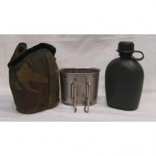 Фляга в термочехле cо стаканом армии Голландии крепление A.L.I.C.E, DPM, б/у