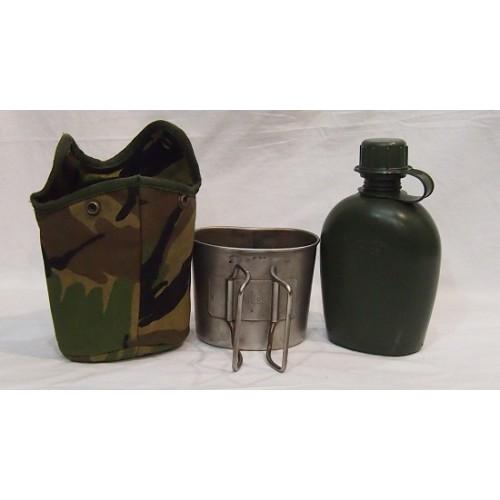 Фляга в термочехле cо стаканом армии Голландии крепление Molle, DPM, б/у