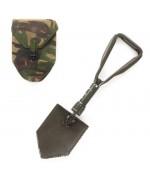 Лопата складная армии Голландии с чехлом, олива, б/у