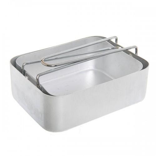 Набор посуды армии Великобритании, алюминиевый, новый