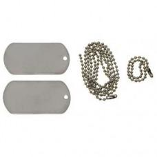 Солдатский жетон с резиновыми кольцами-глушителями армии США, серебристый, новый
