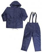 Чешский непромокаемый утеплённый костюм, тёмно-синий, новый