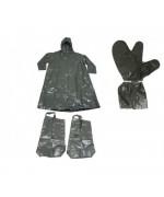 Непромокаемый плащ с бахилами-чулками и трёхпалыми перчатками армии Чехословакии, олива, новый