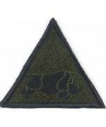 Нашивка 1 бронетанковая дивизия олива, б/у
