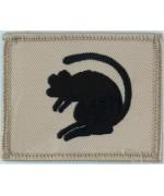 Нашивка 4-й Пехотной бригады (Черная Крыса на песке), Б/У