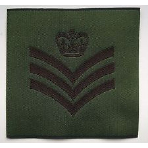 British Army Staff Sergeant's Rank Patch новая