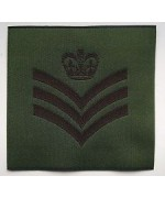 British Army Staff Sergeant's Rank Patch новая