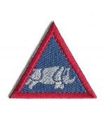 Нашивка 1 UK ARMOURED DIVISION армии Великобритании, синяя, новая