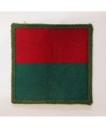Нашивка 6th Field Force (носить на левом рукаве) армии Великобритании, красный/зеленый, б/у