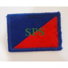 Нашивка Adjutant General's Corps SPS армии Великобритании, синий/красный, б/у