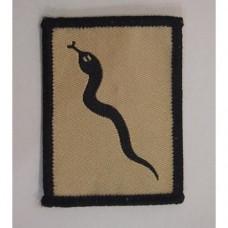 Нашивка армии Великобритании 101 Logistic Brigade, койот/черный, б/у