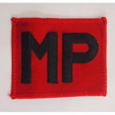 Нашивка армии Великобритании, красный/черный, б/у