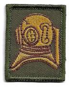 Нашивка Army Diver Qualification армии Великобритании, жёлтая, новая