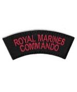 Нашивка Royal Marines Commando армии Великобритании, чёрная, новая