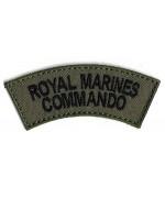 Нашивка Royal Marines Commando армии Великобритании, олива, новая