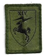 Нашивка Royal Signals 14 Sig Regt Electronic Warfare армии Великобритании, б/у хорошее состояние