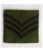 Нашивка SERGEANT армии Великобритании, олива, б/у