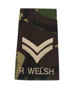 Погон R WELSH CORPORAL армии Великобритании, DPM, новый 1 штука