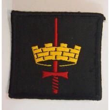 Шеврон армии Великобритании, черный/желтый/красный, б/у