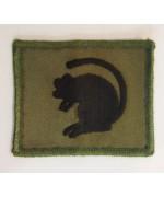 Шеврон 4-й Пехотоной бригады (Черная Крыса ФЛ на оливково-зеленом фоне), б/у