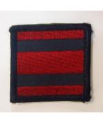 Шеврон на липучке армии Великобритании, красный/синий, б/у