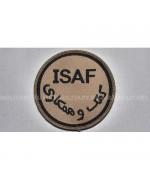 """Шеврон на липучке """"ISAF"""" армии Великобритании, sand, б\у"""