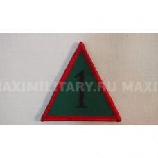 Шеврон на липучке треугольный армии Великобритании, олива, б/у